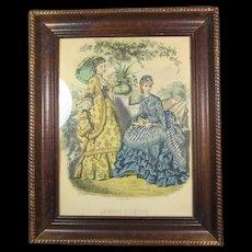 Pr Antique Parisian Fashion Engravings