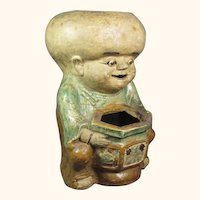 "Japanese Figural  Boy Planter  8  1/2"" high"