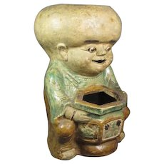 Japanese Figural Ceramic Planter