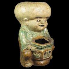 Japanese Figural Ceramic Planter