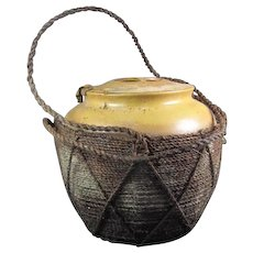 Old Chinese Pottery Tea Caddie