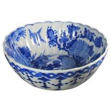 Antique Japanese Dahlia Bowl Signed