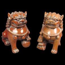 Pr Miniature Foo Lion/Dogs