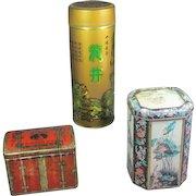 Trio of Chinese Tea Tins