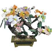 """Hardstone """"Jade """" Flowering Tree"""
