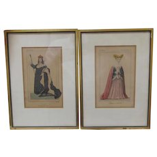 Pr Antique French Etchings of Royals