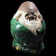 Old Pottery Japanese Fukurokuju Figure