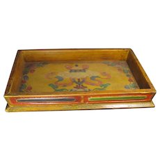 Chinese Polychrome Wood Tray