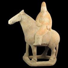 Chinese Tang Horse and Rider