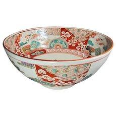Large Antique Japanese Imari Bowl Signed