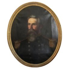 Oil on Canvas of a Military Officer by Eliphalet  F Andrews