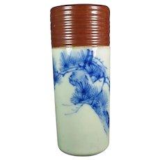 Old Celadon/Blue Porcelain Vase