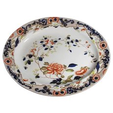 Decorative Arts Beautiful Antique Victorian Marlborough Flow Blue Pottery China Dinner Soup Bowl Fashionable And Attractive Packages Ceramics & Porcelain