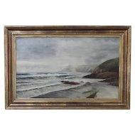English Seascape oil on canvas