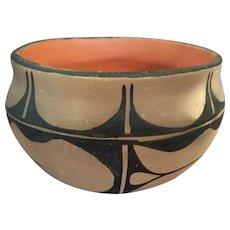 Old Santo Domingo Pueblo Bowl by Angelita Cortiz
