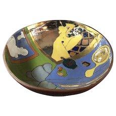 Art Pottery Ceramic Bowl by Judy Miller