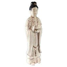 Japanese Porcelain Bosatsu or Bodhisattva Figurine