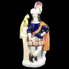 Scottish Staffordshire Figure with a Parrot