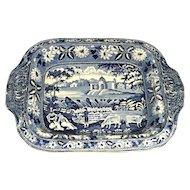 "Antique Staffordshire Transfer Ware  Dish / Bowl    "" Lakes of Killarney""  Ireland"