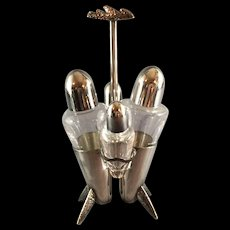 Cassetti Silverplate Cruet Set