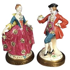 Gallant and Damsel Figurine Pair