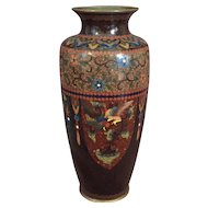 Antique Japanese Cloisonne Vase by Ando