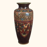 Meiji Period  Japanese Cloisonne Vase by Ando