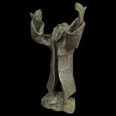 Sculpture of a Rabbi Artist Signed Berman