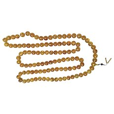 Colossal Amber Prayer Necklace