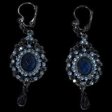 Faux Sapphire Earrings