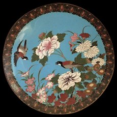 Meiji Period Japanese Cloisonne Charger