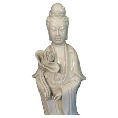 Chinese Porcelain Guanyin in Blanc De Chine
