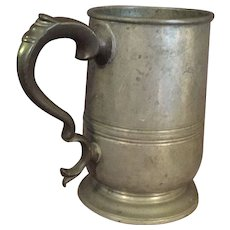 Antique William 4th English Pewter Tankard