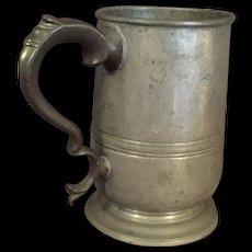 Antique William 4th English Pewter Tankard