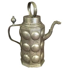 Rare Antique Pewter Pitcher/Ewer