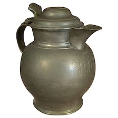 English Pewter Flagon or Tankard 18th or 19th Century