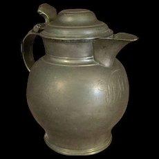 English Pewter Flagon or Tankard 18th or 19th Century