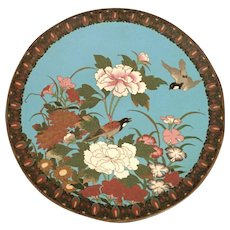 Japanese Meiji Period Cloisonne Charger