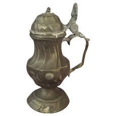 Antique Pewter Mustard Pot