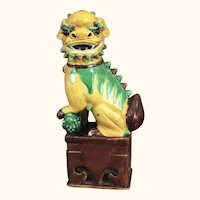 "19th Century Chinese  Foo Dog or Lion  13  3/4"" tall"