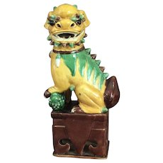 Antique Chinese Glazed Lion