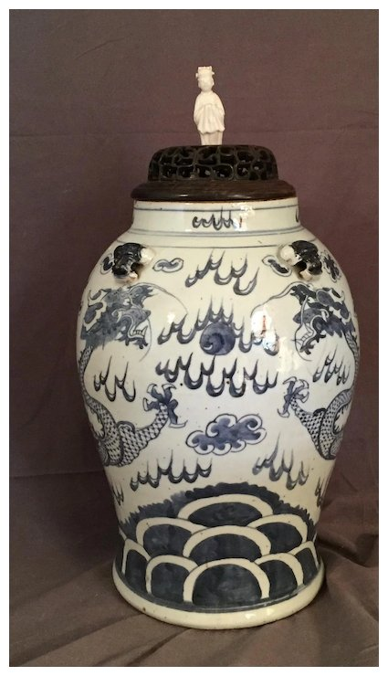 Antique 18th Century Chinese Dragon Vase The Steffen Collection