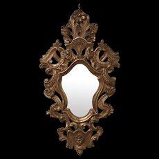 Pair Antique Foliate Form Mirrors
