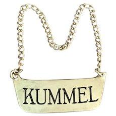 Sterling Bottle Label Kummel