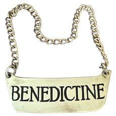 Sterling Bottle Label Benedictine