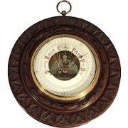 Antique English Barometer Hand Carved