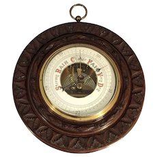 Antique English Barometer Hand Carved