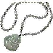Jade Budai / Buddha and Beaded Necklace