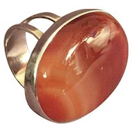 English Sterling Agate Ring