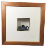 Miniature Chinese Pottery Tea Pot Framed